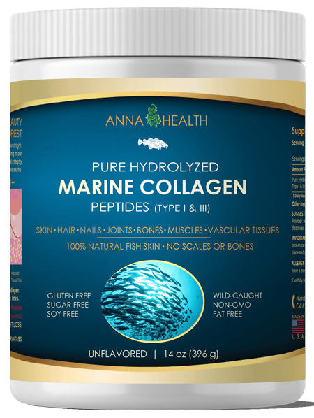 Pure Hydrolyzed Marine Collagen Peptides